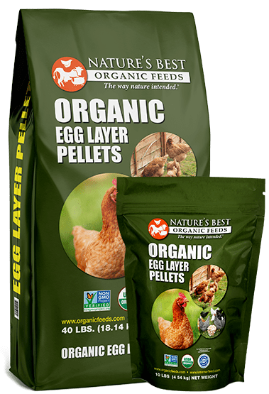 2 green bags of organic egg layer pellets